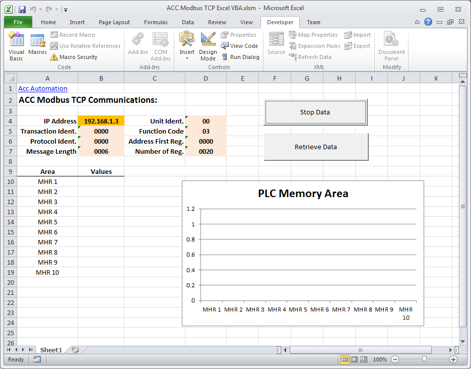 Modbus TCP using VBA Excel 070-min