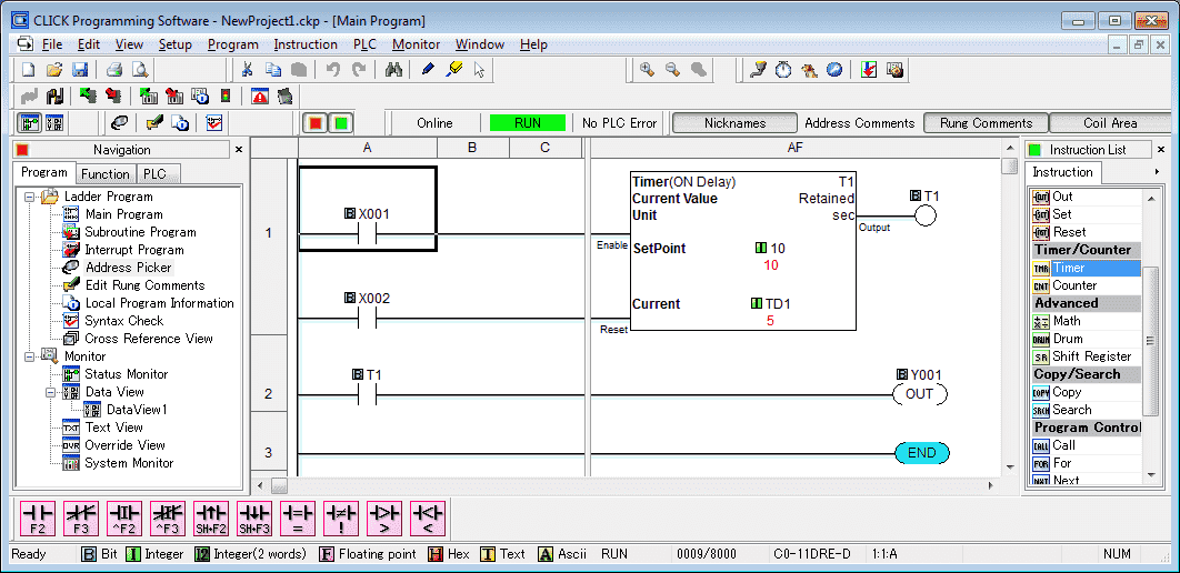Click PLC Timers and Counters 115-min