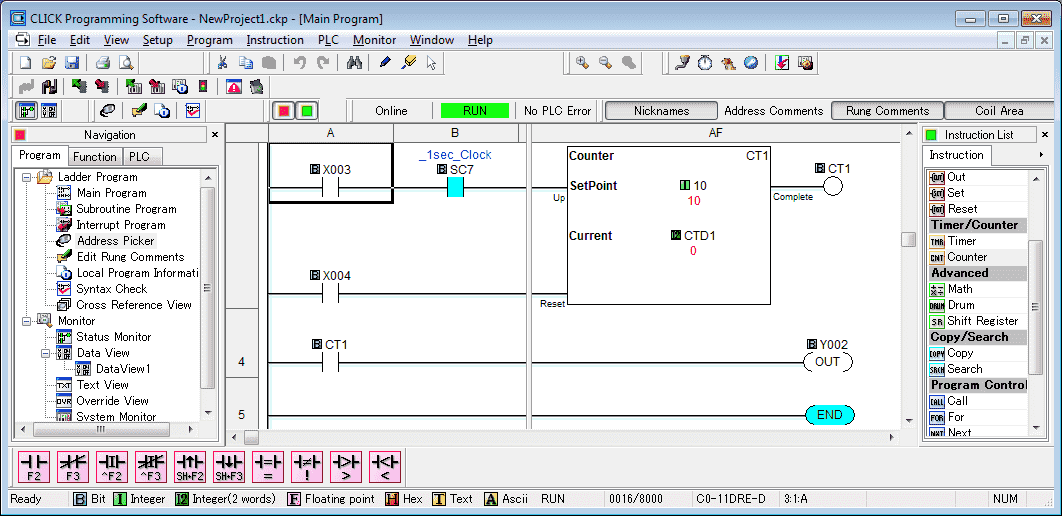Click PLC Timers and Counters 220-min