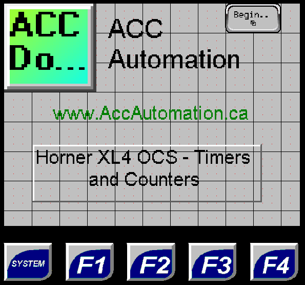 Horner XL4 Timers and Counters - All In One Controller
