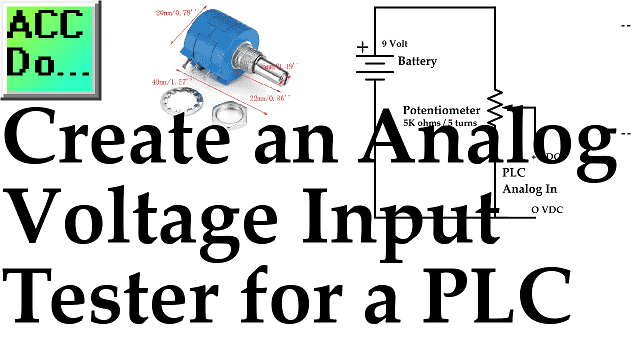 Create an Analog Voltage Input Tester for a PLC