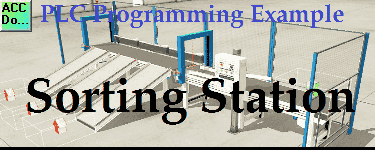 plc example shift register sorting station