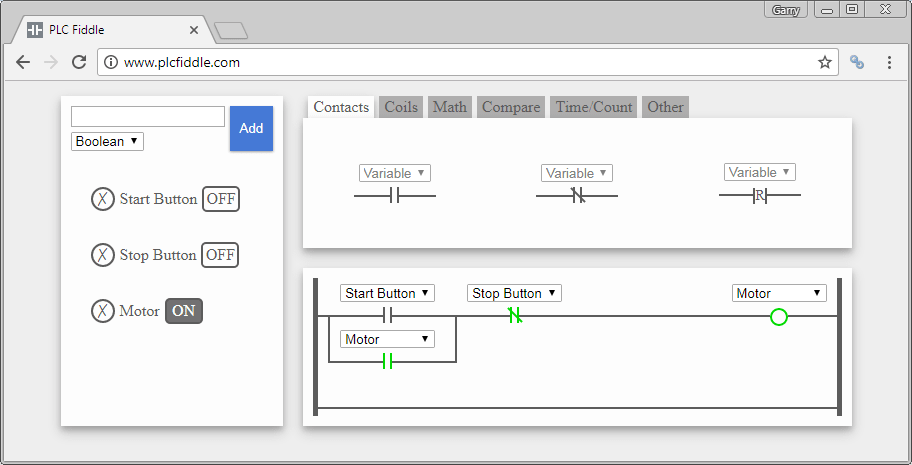 PLC Fiddle – Online Editor and Simulator