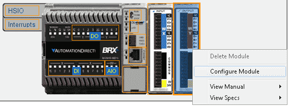BRX Do-More PLC Analog IO – System Configuration