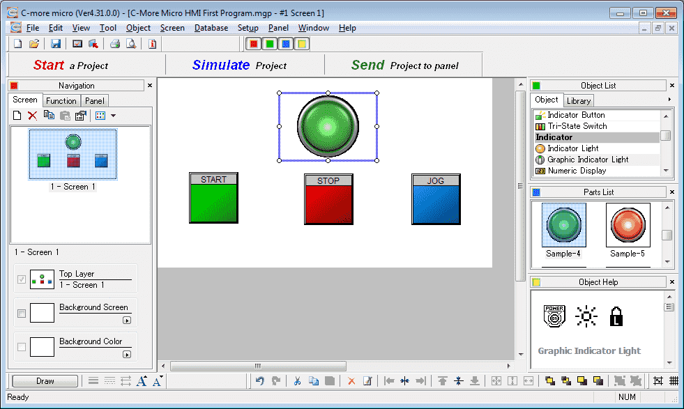 C-More Micro HMI First Program Create