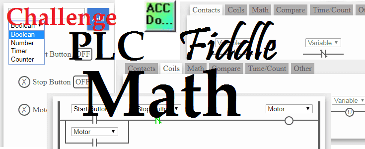PLC Fiddle Math Challenge Examples