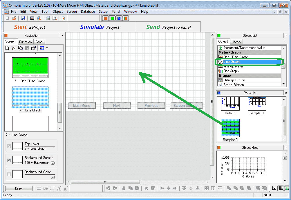 C-More Micro HMI Object Meters and Graphs