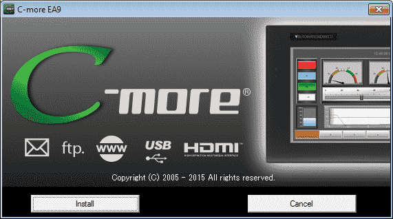 C-More EA9 HMI Series Panel Installing the Software