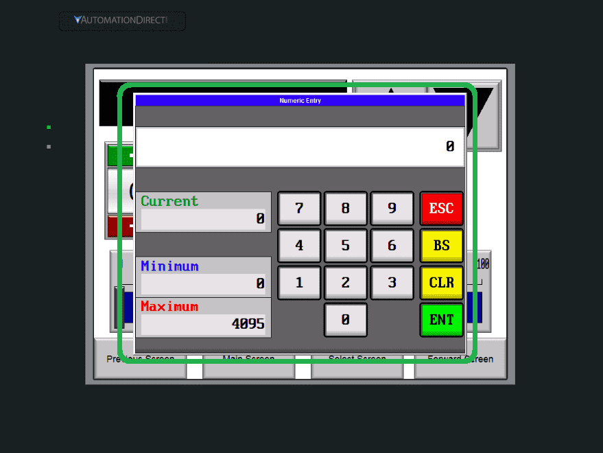 C-More EA9 HMI Series Panel Define Custom Keypad