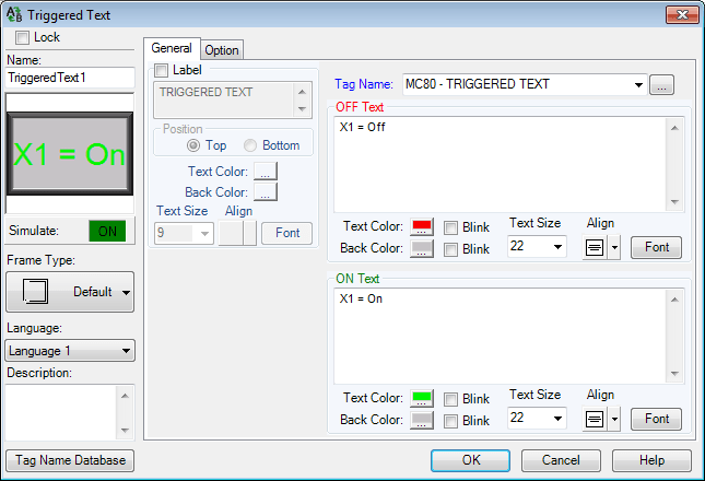 C-More EA9 HMI Series Panel Object List Text