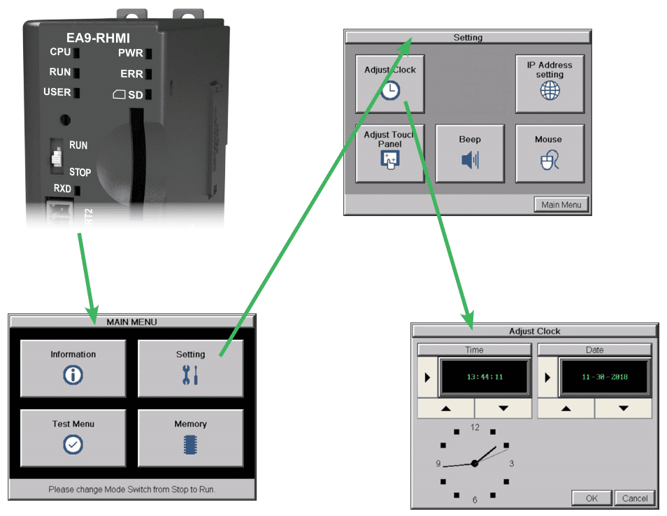 C-More EA9 HMI Series Headless RHMI Setup Screens