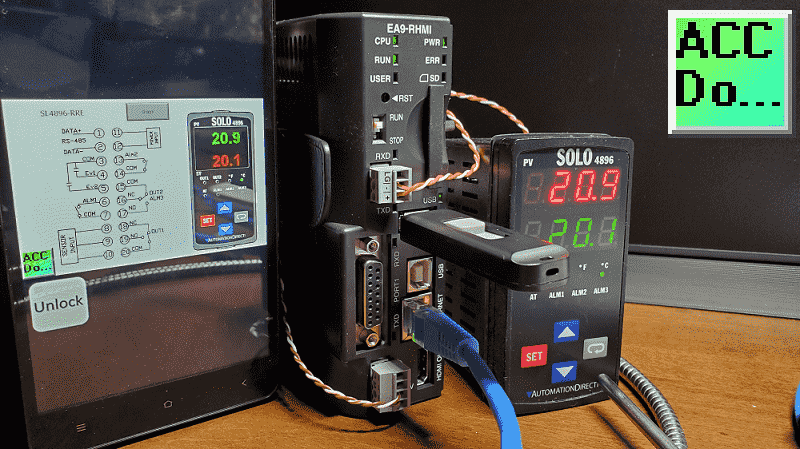C-More EA9 HMI Series Headless RHMI to Solo Process Temperature Controller