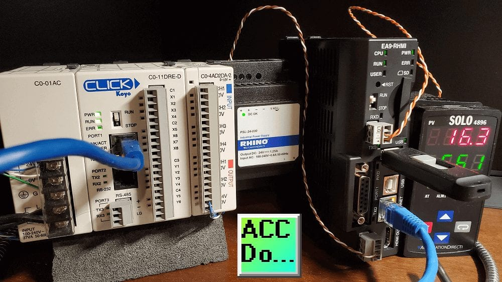 C-More EA9 HMI Solo and Click PLC controllers