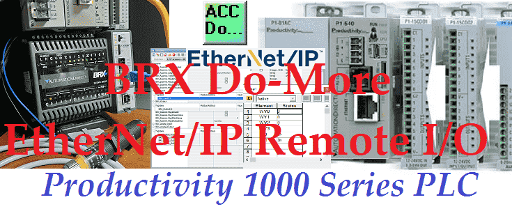 Productivity 1000 Series PLC BRX Do-More EthernetIP Remote IO