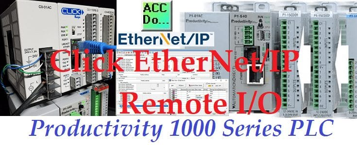 Productivity 1000 Series PLC Click EthernetIP Remote IO