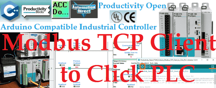 Productivity Open P1AM Arduino Modbus TCP Client to Click PLC