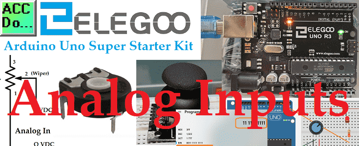 Arduino Uno Super Starter Kit Analog Inputs