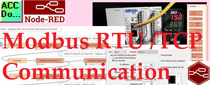 Node-RED Modbus RTU / TCP Communication