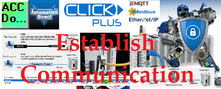 Click Plus Establish Communication