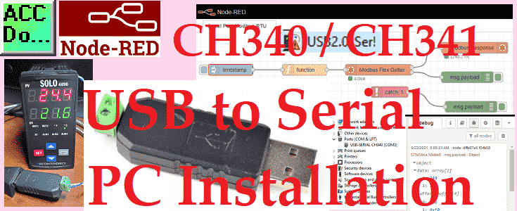 CH340 CH341 USB to Serial PC Installation